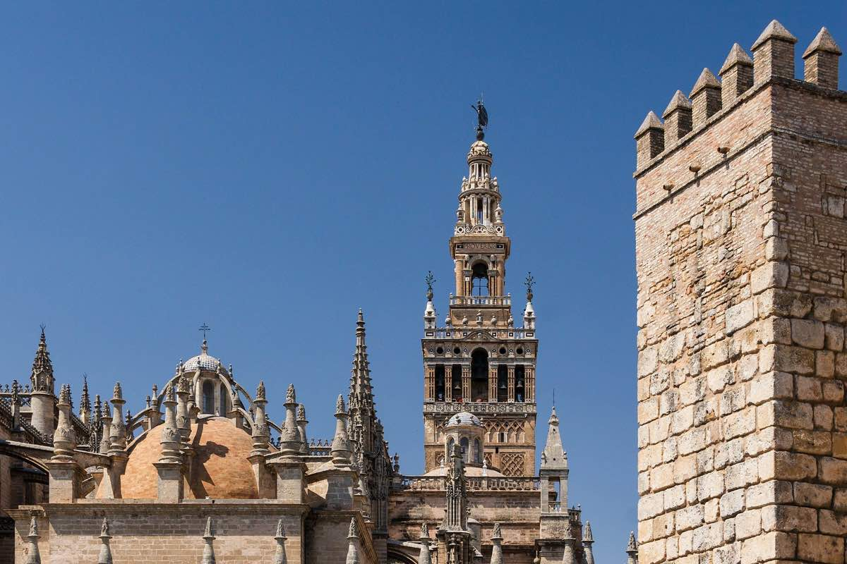 Cathedral and Giralda from the Reales Alcázares